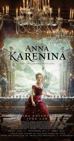 Directed by Joe Wright.  With Keira Knightley, Jude Law, Aaron Taylor-Johnson, Matthew Macfadyen. In late-19th-century Russian high society, St. Petersburg aristocrat Anna Karenina enters into a life-changing affair with the dashing Count Alexei Vronsky.