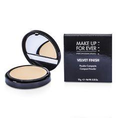Velvet Finish Compact Powder - #1 (Ivory) 10g - Product Image