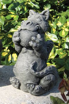 Pond And Garden Depot   Cast Stone Dragon Statue   Backyard Garden  Decoration