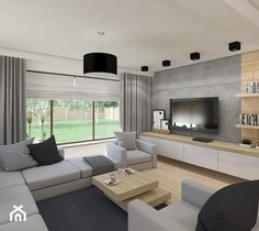 Living Room Wall Units, Living Room Tv Unit Designs, New Living Room, Living Room Decor, Bedroom False Ceiling Design, My House Plans, Muebles Living, Foyers, House Design