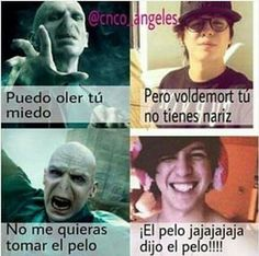 Read 168 Voldemort from the story CNCO Memes by AngelaNayelITMR (CNCOMisterios! Funny Spanish Memes, Spanish Humor, Voldemort, New Memes, Harry Potter Memes, Beagle, Funny Images, Hilarious, Life Hacks