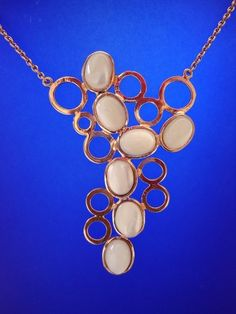 yellow gold plated silver necklace with mother of pearls