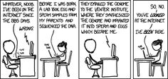 "I can't even describe the ways in which I love this cartoon. XKCD ""You were on the internet before I was born? Well, so was I."""