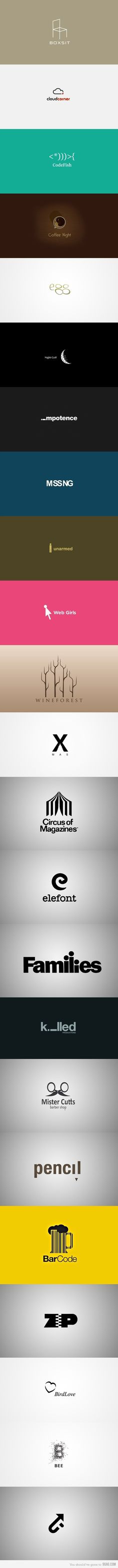 Very clever logo's