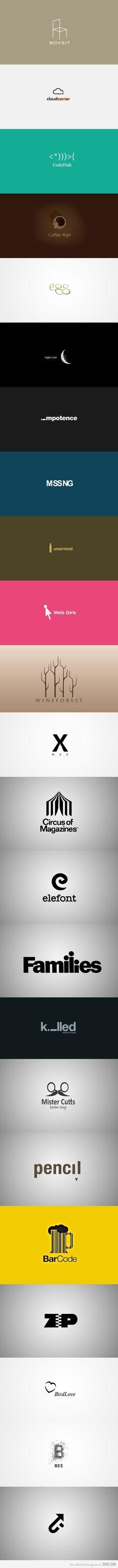 Logo inspiration, these logos are amazing!!