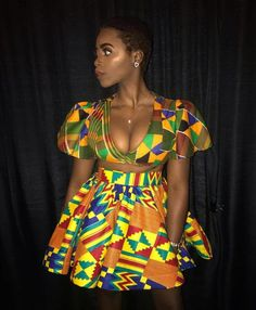 African crop top and mini skirt, African Women's Dress, African Wax print, African Clothing, Africa Source by fashion dresses African Fashion Ankara, Latest African Fashion Dresses, African Inspired Fashion, African Print Fashion, Africa Fashion, Dress Fashion, Fashion Outfits, Fashion Trends, African Attire