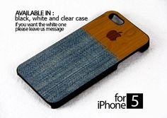 AJ 308 Denim Wood Protective - iPhone 5 Case | FixCenter - Accessories on ArtFire