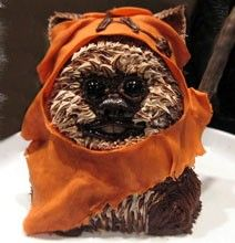 Another Star Wars Cake.  This time Wicket!