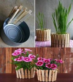 How to make DIY marble pots: which color marbling technique is best? - The DIY nutsWould you like to learn how to make artificially marbled flower pots cheaply? Diy Flowers, Flower Pots, Flower Vases, Diy And Crafts, Crafts For Kids, Craft Projects, Projects To Try, Garden Projects, Fleurs Diy