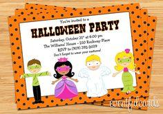 Kids Halloween Costume Party Invitation