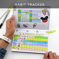 Tie habit points to rewards Passion Planner Tips - Habit Tracker Journal Guide, Journal Pages, Passion Planner, Happy Planner, Planner Tips, Planner Board, Day Work, Scrapbook, Planner Organization