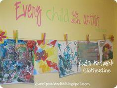 Children's art work display