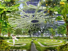 Urban farming utopia in India produces more energy than it uses Hyperions by Vincent Callebaut – Inhabitat - Green Design, Innovation, Architecture, Green Building Architecture Durable, Futuristic Architecture, Sustainable Architecture, Sustainable Design, Amazing Architecture, Landscape Architecture, Landscape Design, Architecture Design, India Architecture