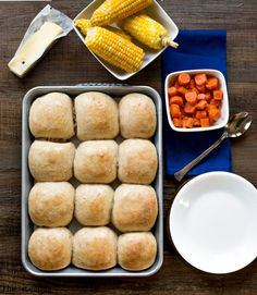 One of my favorite (and one of the most popular) recipes on i heart eating is my 60 Minute Dinner Rolls. Sometimes, though, one hour is still too long wait for fresh, hot rolls. These 30 Minute Hon...
