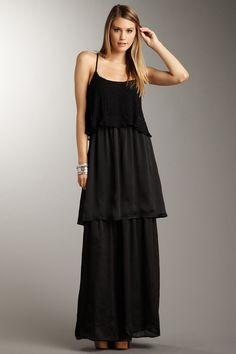 Isabel Lu  Layered Bodice Spaghetti Strap Dress