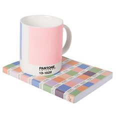 PANTONE Mug and Chips Journal in Rose Quartz & Serenity, the PANTONE Colors of the Year for 2016.