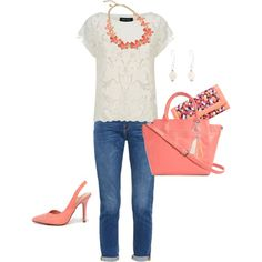 Easter Weekend Wardrobe: Sunday Brunch by verabradley on Polyvore featuring Frame Denim, My Delicious and Vera Bradley