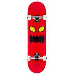 "TOY MACHINE Skateboard Complete MONSTER FACE 8.0″ Raw Assembled: 8.0"" Core Trucks 52mm TGM Wheels"