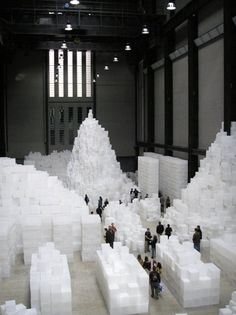 """""""Embankment"""" by Rachel Whiteread Tate Modern Museum, London.   Saw this installation when we moved to York, England  in 2005.  Love the Tate!"""