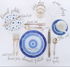 Correct table place setting - I always forget this. :P