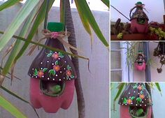 Recycling of Plastic Bottles: Make a Bird-House with Plastic Bottles - Great Creative Idea