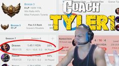 Coach Tyler1 - 35% winrate in Bronze 3 https://www.youtube.com/attribution_link?a=NRUt8nMw9qg&u=%2Fwatch%3Fv%3DZQ6MZX7gaQY%26feature%3Dshare #games #LeagueOfLegends #esports #lol #riot #Worlds #gaming