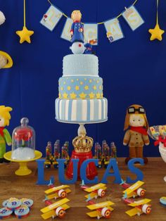 The Litlle Prince Birthday Party cake!  See more party planning ideas at CatchMyParty.com!