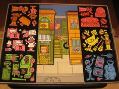 Sesame Street Colorforms- totally had this exact set! Gah, Colorforms were the bomb. My Childhood Memories, Childhood Toys, Great Memories, 1970s Childhood, Retro Toys, Vintage Toys, Photo Vintage, I Remember When, Ol Days