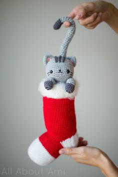 Chester the Cochet Cat Crochet Pattern - Free Crochet Stocking Pattern