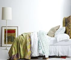 Green & White Bedroom   photo Angus Fergusson   stylist Stacey Smithers   House & Home