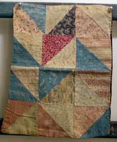 """Late 19th C Doll Quilt, 13"""" x 10"""", thecatladyantiques"""