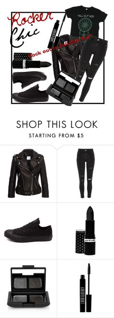 """""""Rocker Chic"""" by littlez3845 ❤ liked on Polyvore featuring Anine Bing, River Island, Converse, Hard Candy, NARS Cosmetics, Lord & Berry, rockerchic and rockerstyle"""
