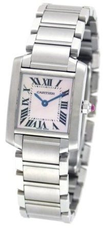 SALE!! Cartier Women's W51028Q3 Tank Francaise Pink Mother of Pearl Watch REVIEW