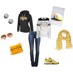 Rockin' the Pittsburgh Steelers' style!