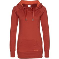 Bench DOPIOFUN Sweatshirt red ($66) ❤ liked on Polyvore featuring orange