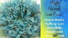 Ruffle Deco Mesh Wreath: How to Make A Ruffle with Curl Wreath Base Usin...