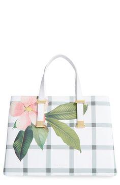 ee960203047de5 Ted Baker London  Secret Trellis  Floral Print Faux Leather Shopper Ted  Baker Tote Bag