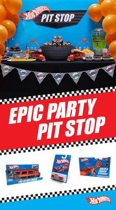 Every Hot Wheels house party needs a first-place snack table. Get your party supplies and retro Hot Wheels line at Target to make this DIY table and decorations for your next Hot Wheels themed celebration. Hot Wheels Birthday, Race Car Birthday, Cars Birthday Parties, 5th Birthday, Birthday Wishes, Birthday Ideas, Festa Hot Wheels, Hot Wheels Party, Race Party