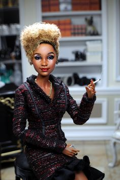 "https://flic.kr/p/NcENZS | and? | Don't be telling Miss Whitney what she can and can not do! You were warned!   Whitney in a Fashion Royalty Suit. A Basic Barbie becomes ""the voice"" Whitney Houston as restyled and repainted by Noel Cruz of www.ncruz.com for www.myfarrah.com.  Photographed in a Ken Haseltine Regent Miniatures Diorama for 1:6 scale figures (www.regentminiatures.com).  Visit:  www.myfarrah.com.  Farrah is on facebook  www.facebook.com/FLFawcett  On Tumblr at; farrahle..."