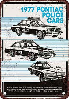 1977 Pontiac Police Cars Vintage Look Reproduction Metal Sign -- This is an Amazon Affiliate link. Check out the image by visiting the link.