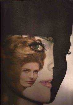 Diane Arbus [?] by Melvin Sokolsky    in Harper's Bazaar, April 1964