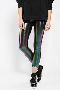 Sparkle & Fade Rainbow Oil Slick Legging $44  Size M