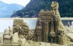 Jurassic Park: Well, to be accurate, this unique sandcastle also incorporates some Muppets. From 2008's World Championships Tournament of Sand Sculpture
