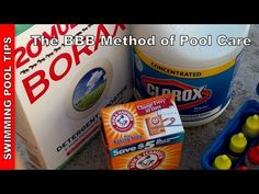 The BBB method - Using Bleach, Baking Soda & Borax to Maintain Your Swimming Pool - YouTube