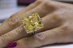 Rahaminov Diamonds 40-carat fancy yellow diamond ring • Image Erika Winters