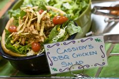 Salads are the best at Baggin's.  Have you tried a bread bowl salad today?