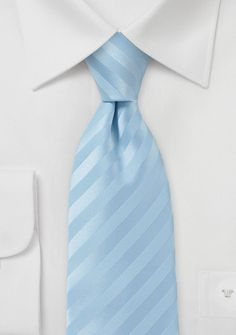 Light Blue Striped Tie - Looking good has never been this easy! De-stress your look by accessorizing with classic stripes woven on a Jacquard loom for the ultimate luxurious t Rose Quartz Serenity, Tie Shop, Cream Wedding, Blue Peach, Blue Ties, Hand Weaving, Light Blue, Coral, Mens Fashion