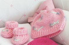 Sapatinho de tricô rosa / DIY, Craft, Upcycle