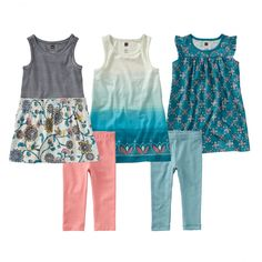 Never have to match her outfits again with cute little girl clothes from Tea Collection.  Find cute outfits for little girl as great gifts for the wardrobe.