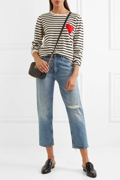 Chinti and Parker | Intarsia striped cashmere sweater | NET-A-PORTER.COM
